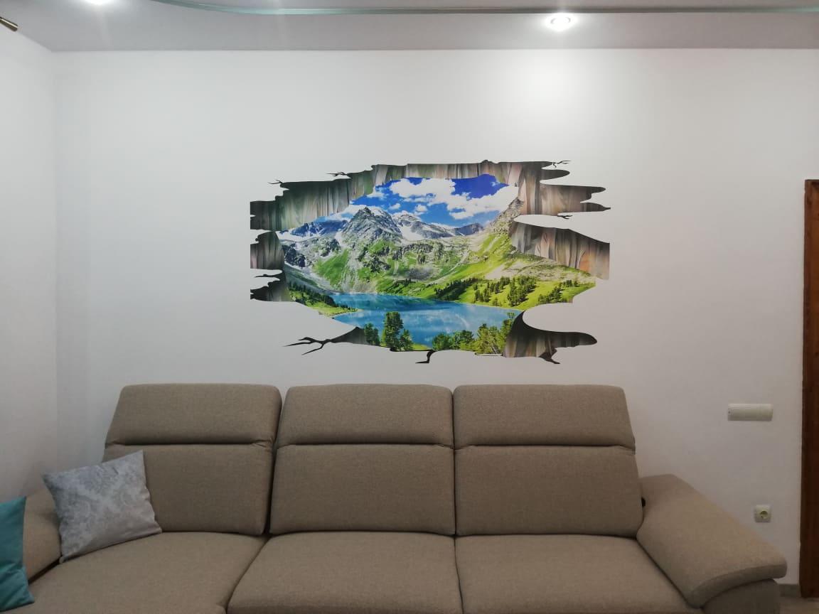 Bring nature inside – imprimare pe perete