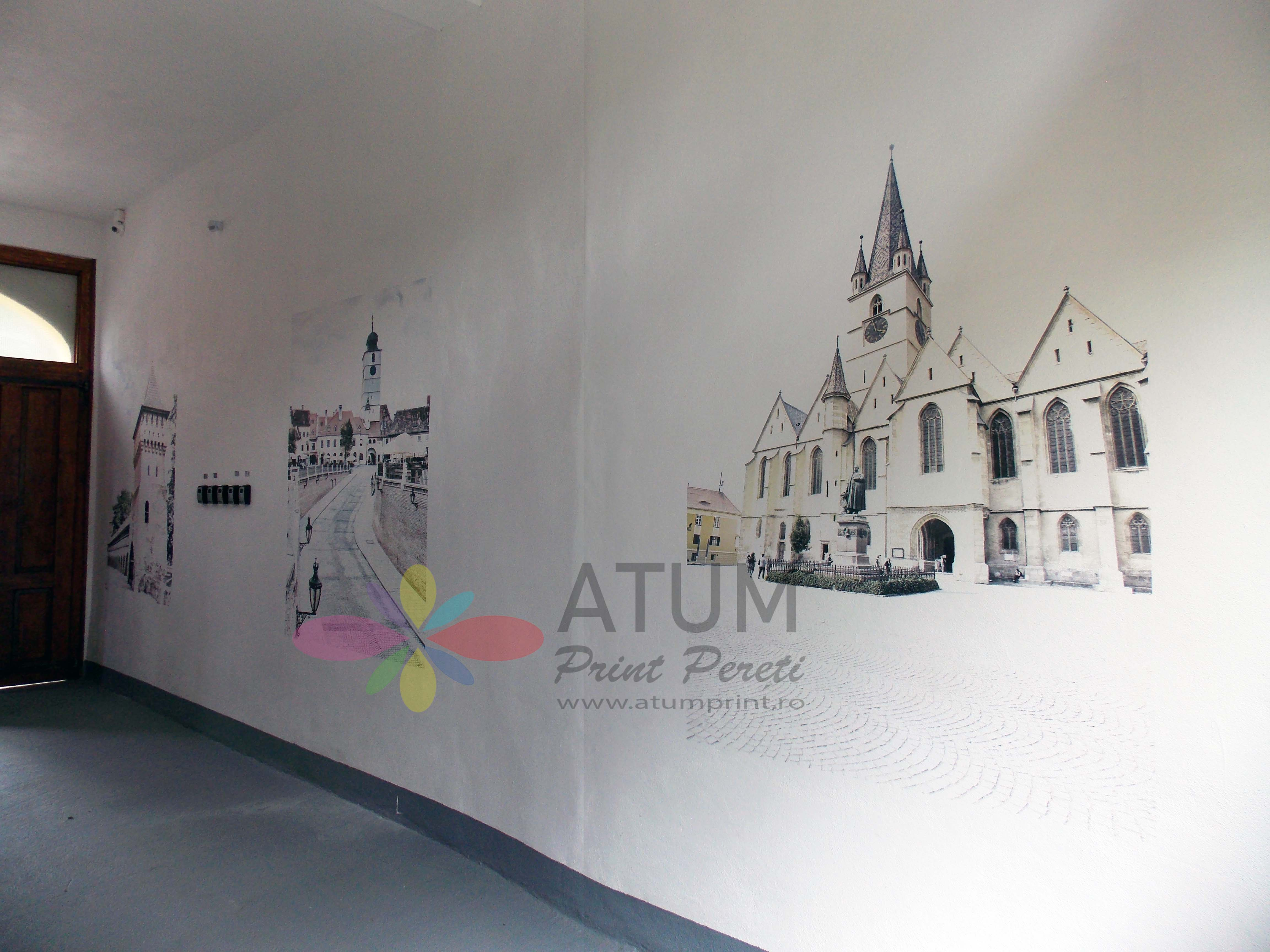 Sibiu Landmarks – imprimare pe perete