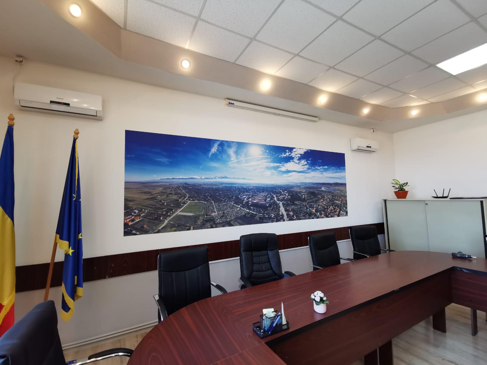 Panorama Avrig – imprimare pe perete